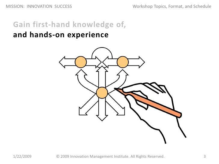 Mission: Innovation Success Workshop Slide 3