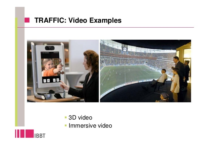 TRAFFIC: Video Examples              3D video          Immersive video