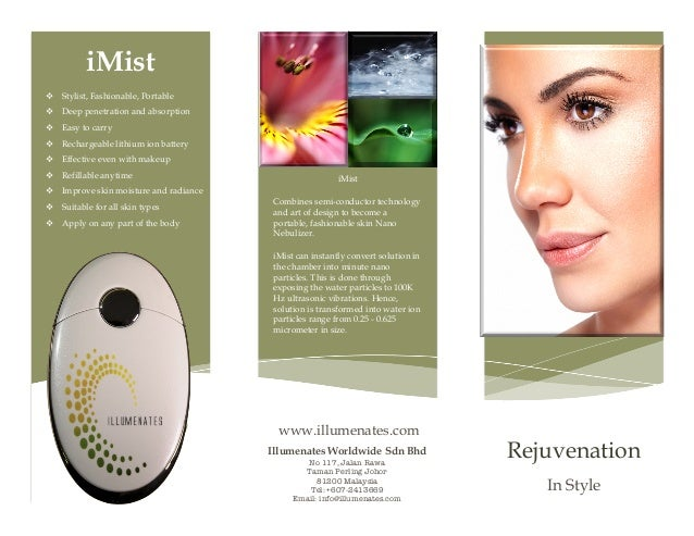 iMist v Stylist, Fashionable, Portable v Deep penetration and absorption v Easy to carry v Rechargeable lithi...