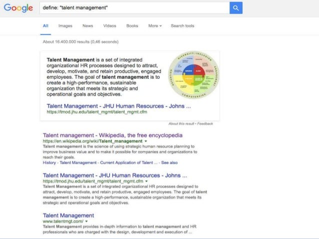  Version 1: More or less exactly the same as strategic HRM – it's most things HR does  Version 2: One specific thing HR ...
