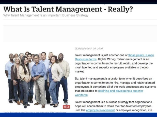 Talent Management: Where does it come from?