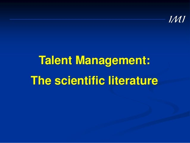 … and some critical questions 3. What might be the unintended negative sides-effects of identifying talent on those who ar...
