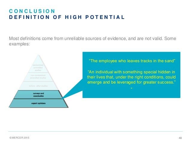 Evidence-based management Central Premise: Decisions should be based on the 'best available evidence'.