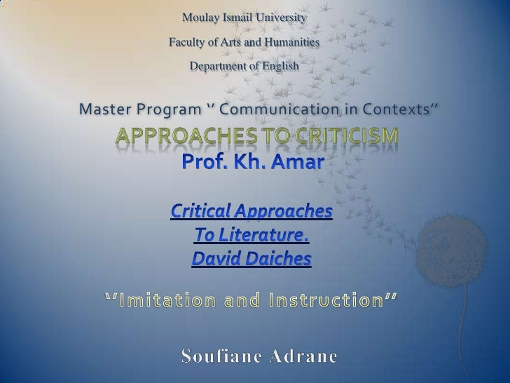Moulay Ismail University<br />Faculty of Arts and Humanities<br />Department of English<br />Master Program '' Communicati...