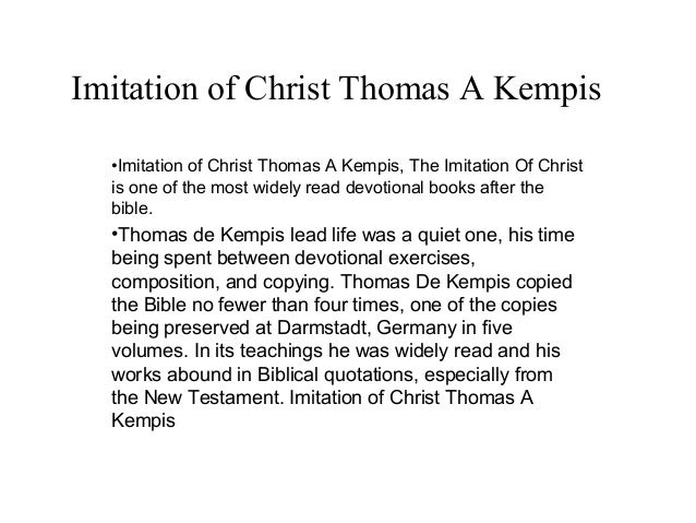 The Imitation of Christ Quotes