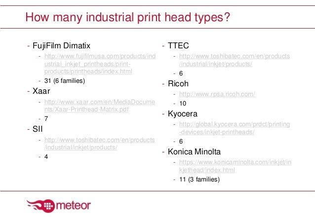 Printhead Selection & Evaluation