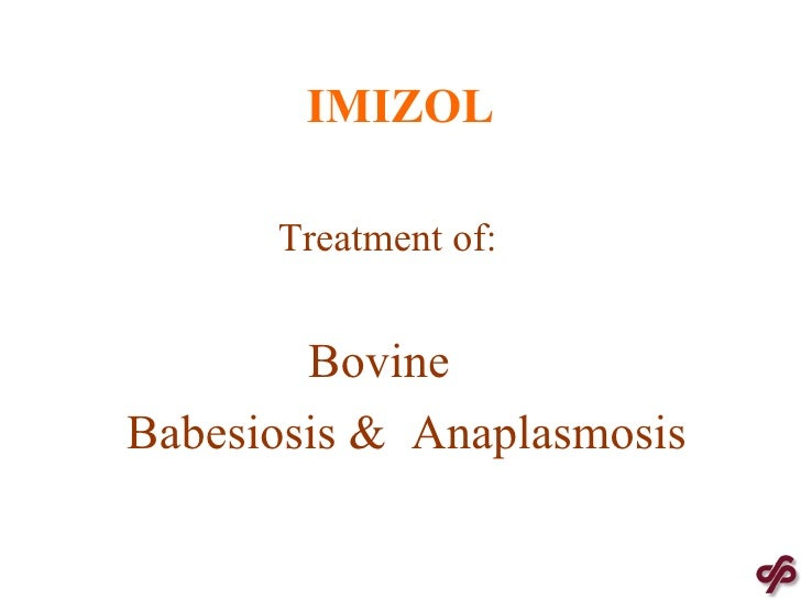 IMIZOL   Treatment of: Bovine Babesiosis &  Anaplasmosis