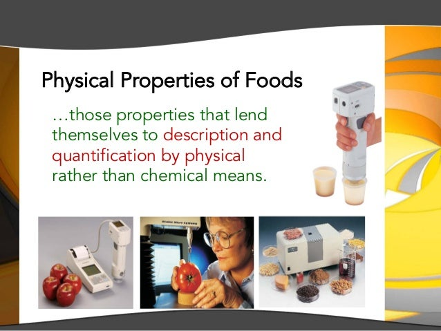 IMK 209 — Overview of Physical Properties of Food