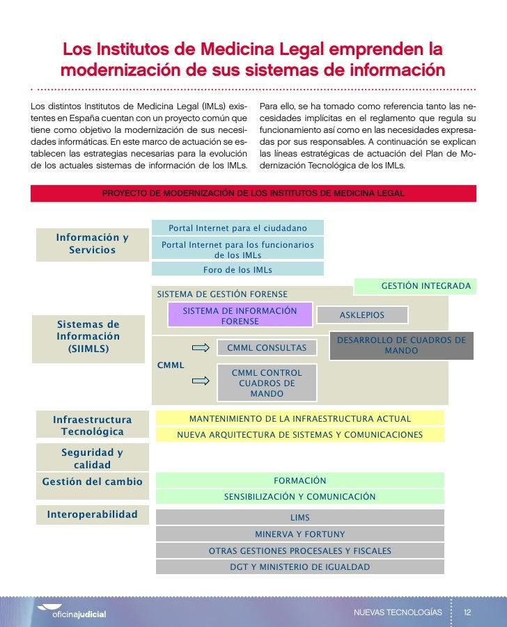 Los Institutos de Medicina Legal emprenden la        modernización de sus sistemas de información Los distintos Institutos...