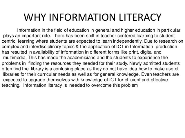 Information literacy thesis
