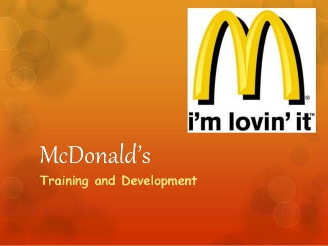 McDonalds Training And Development