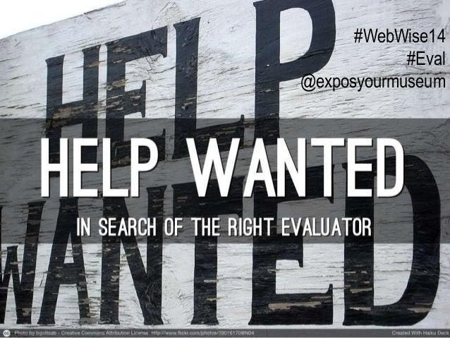 #WebWise14 #Eval @exposyourmuseum
