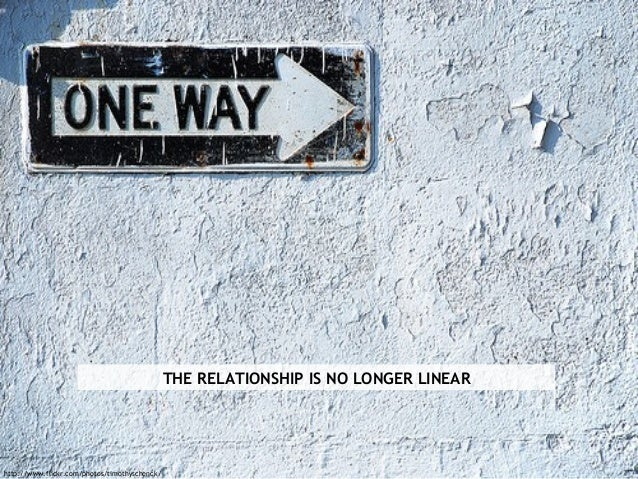 THE RELATIONSHIP IS NO LONGER LINEAR http://www.flickr.com/photos/timothyschenck/