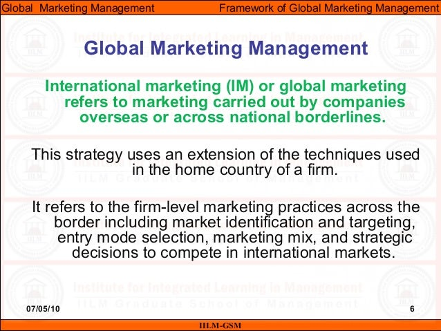 importance of global marketing