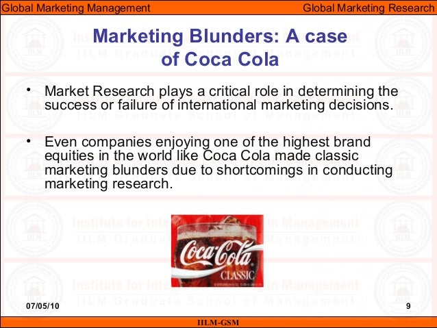 scope of international marketing research Marketing research is the function that links the consumer, customer, and public to the marketer through information--information used to identify and define marketing opportunities and problems generate, refine, and evaluate marketing actions monitor marketing performance and improve understanding of marketing as a process.