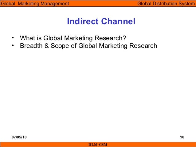 Discuss the breadth and scope of international marketing research