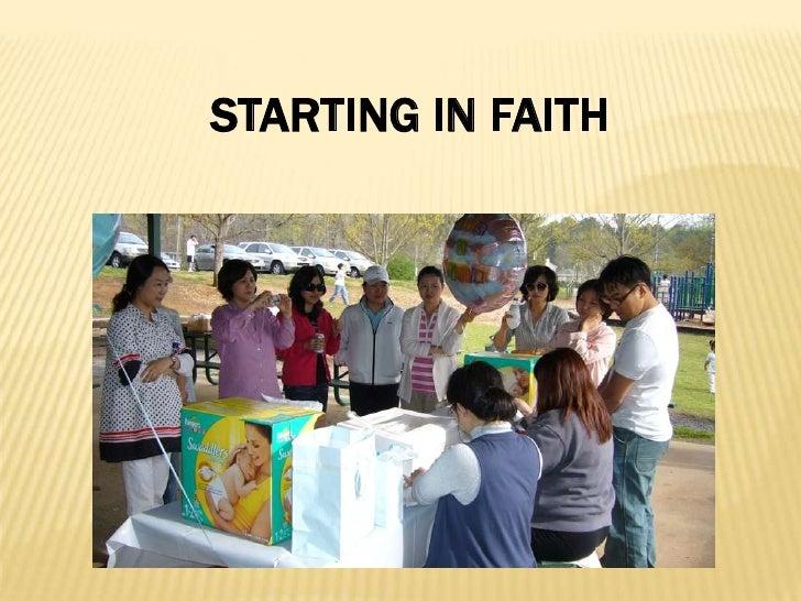 STARTING IN FAITH