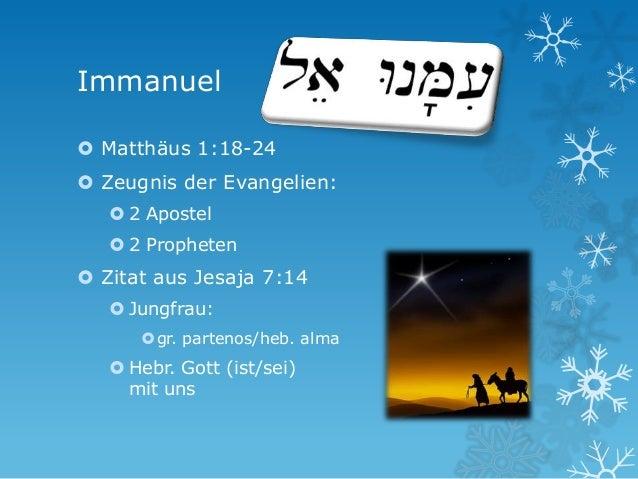 Immanuel Gott Mit Uns