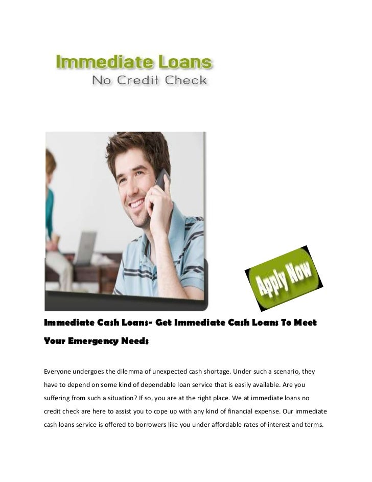 Immediate Cash Loans- Get Immediate Cash Loans To MeetYour Emergency NeedsEveryone undergoes the dilemma of unexpected cas...