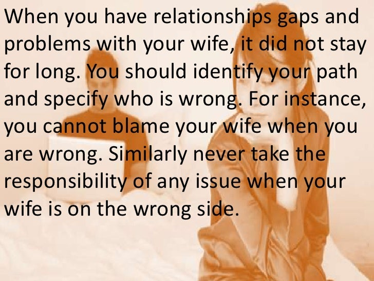 Immediate steps to take when wife wants to leave