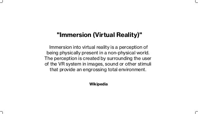 being immersed into virtual worlds Are immersive experiences being used for innovation  to accomplish this task we immersed the  the cats use 3d virtual worlds and social media platforms to.
