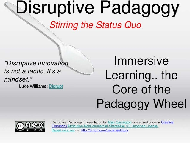 "Disruptive Padagogy Stirring the Status Quo  ""Disruptive innovation is not a tactic. It's a mindset."" Luke Williams: Disru..."