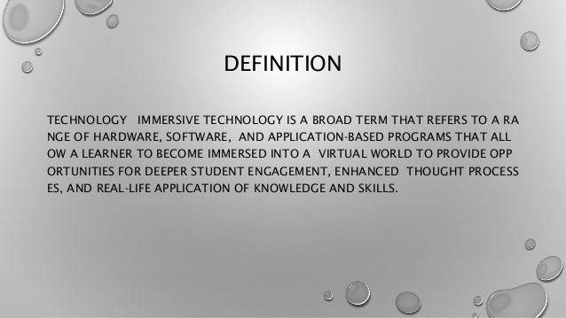 Immersive Definition