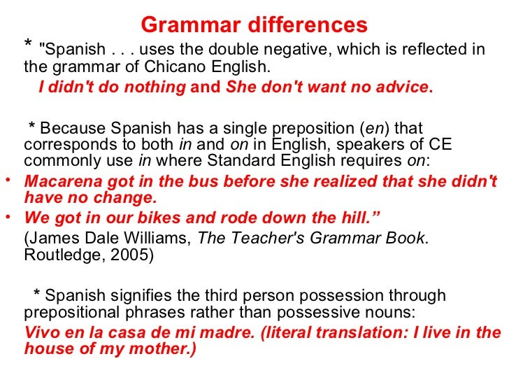 Pdf) chicano english: morphology and syntax.