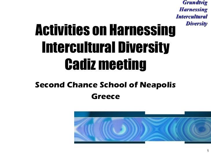 Second Chance School of Neapolis Greece Activities on Harnessing Intercultural Diversity Cadiz meeting Grundtvig Harnessin...
