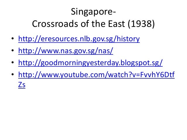 brief history of singapore A chronology of key events in the history of singapore.