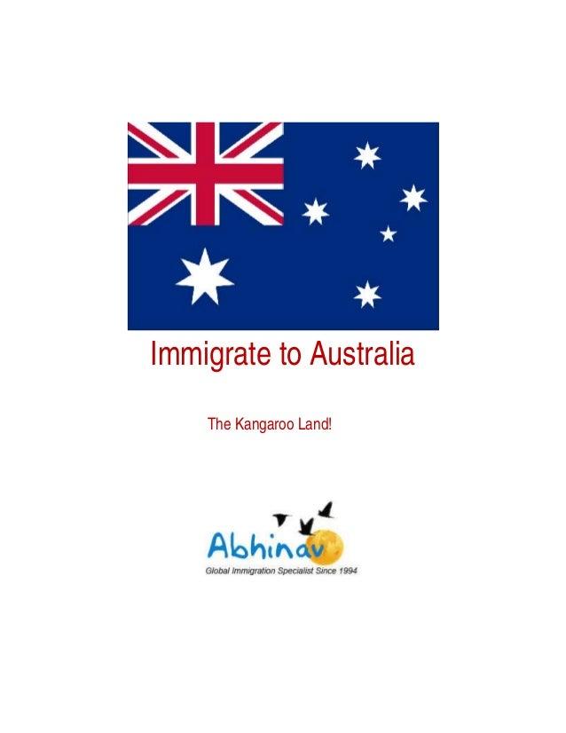 Immigrate to Australia The Kangaroo Land!