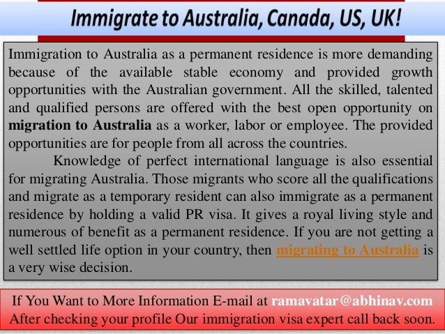 Immigrate to australia, canada, us, uk
