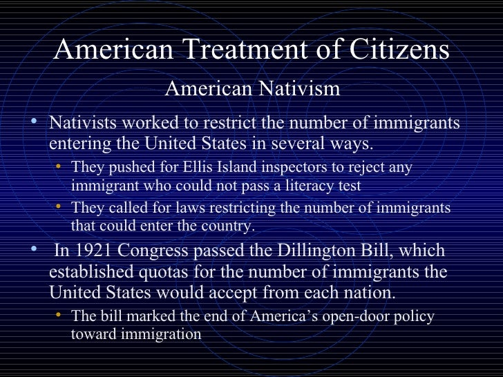 """treatment of immigrants in america The public's view of immigration  likely to support a candidate whose economic plans they supported but said """"illegal immigrants are a threat to america."""