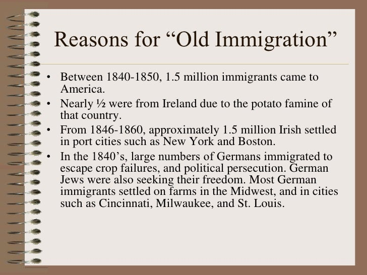 why did immigrants come to america essay Coming to america: the benefits of open immigration  why then do the american people—descendants of immigrants,  america absorbs so many immigrants that,.
