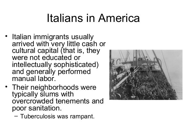 Italians in America • In movies that deal with cultural issues, Italian American words and lingo are sometimes spoken by t...