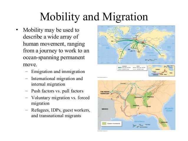 Emigration • emigration • migration from a place (especially migration from your native country in order to settle in anot...