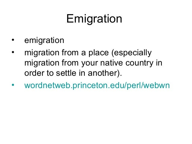 International Migration • International migration occurs when peoples cross national boundaries and stay in the host state...