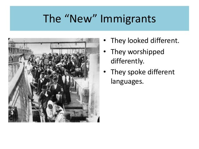 A look at the different waves of immigrants into us