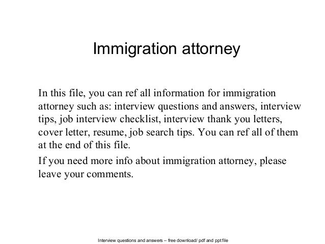 High Quality Interview Questions And Answers U2013 Free Download/ Pdf And Ppt File Immigration  Attorney In This ...