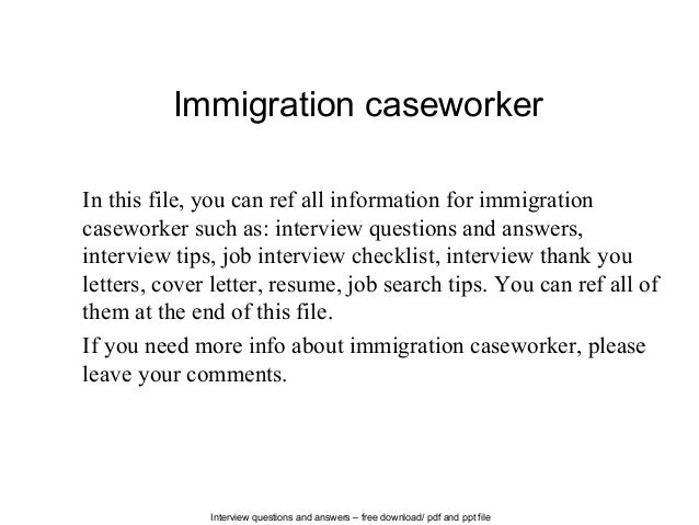 Lovely Interview Questions And Answers U2013 Free Download/ Pdf And Ppt File  Immigration Caseworker In This ... And Caseworker Job Description
