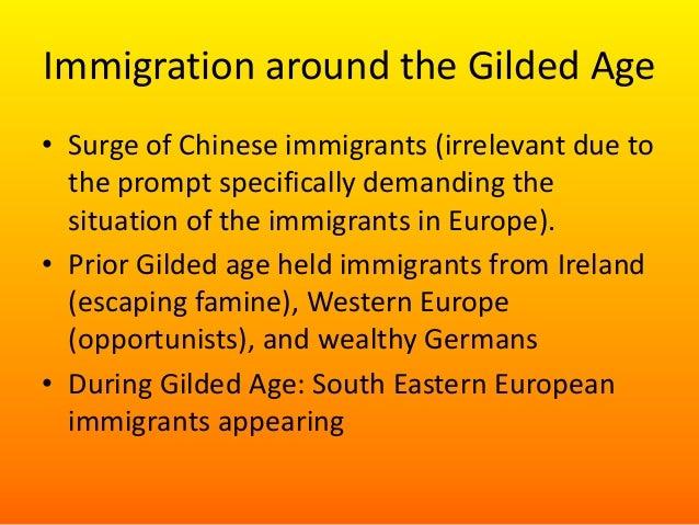 Irish immigration the gilded age essay
