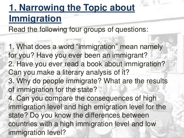 An essay about immigration