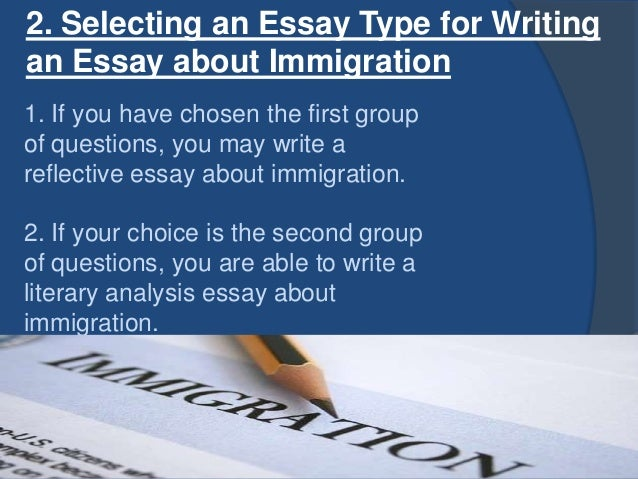 problems of immigration essay Nowadays, illegal immigration continues to be a disputable and divisive issue, not only in the united states, but throughout the whole world.
