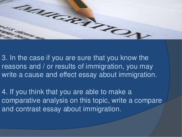 compare and contrast essay on immigration now and then