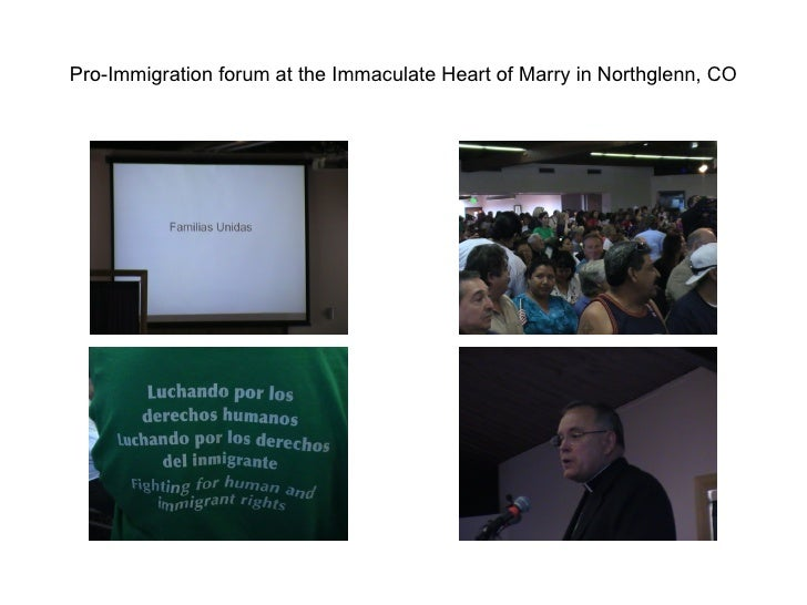 Pro-Immigration forum at the Immaculate Heart of Marry in Northglenn, CO