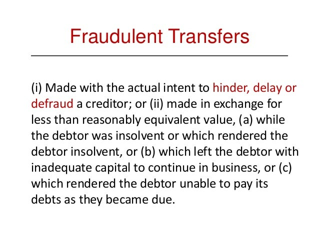 Definition of a Preference 4. The transfer must have been made on or within 90 days prior to the filing date of the bankru...