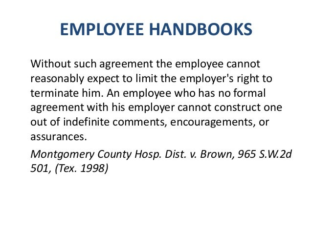EMPLOYEE HANDBOOKS  Overtime  Relationships Within The Workplace  Request for Change in Employment Status  Searches  ...