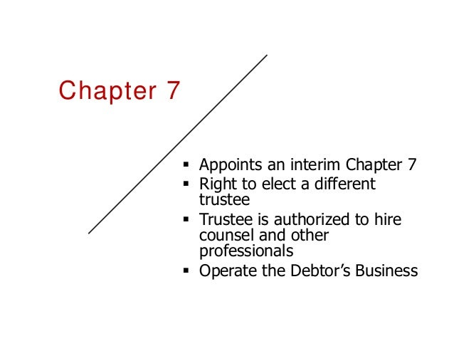 Unsecured Creditors' Committee Represents the interests of the unsecured creditors as a whole