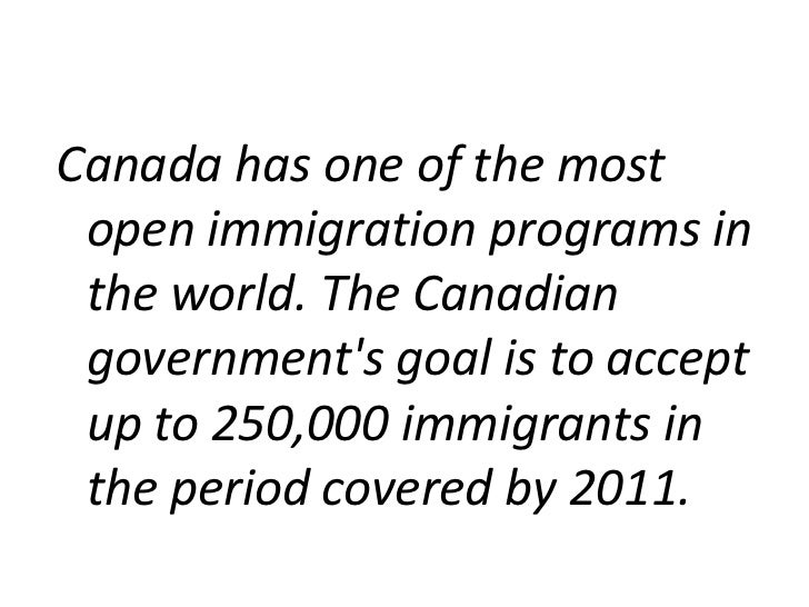 Immigration in canada power point