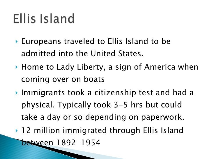 immigration at ellis island essay Free essay: ellis island, which was an immigration station, opened in 1892 ellis island was a place where immigrants from all over southern and eastern.